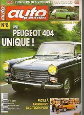 AUTO PASSION 8 S4 404 1967 CITROEN PONY RENAULT DOMAINE 1957 MORS TYPE RX 1913