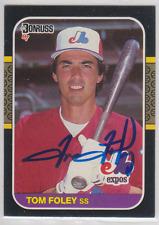 Autographed 1987 Donruss Tom Foley - Expos