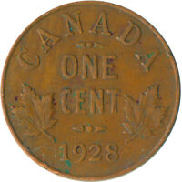 COIN / CANADA / 1 CENT 1928 / KING GEORGE V.  #WT5293