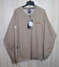 Adidas Golf ClimaProof Wind Pullover Windbreaker with Honeywell Logo Tan Size XL