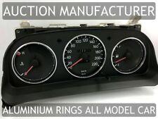 Toyota Corolla E10 1992-1997 Dash Instrument Chrome Rings Polished Aluminium x3
