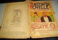 """RACCONTANOVELLE anno I° n. 3 """"RISATE di S. LOPEZ"""" 15/11/1919 FUTURISMO"""