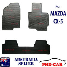 All black Tailor Made custom-made rubber car floor mats for Mazda CX-5 2012~