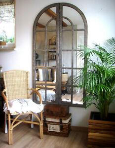 großer Spiegel, Eisen, Stallfenster Bogenfenster, 170cm Höhe NEU Industrie-Style