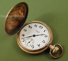 Antique Waltham 610 Grade Gold Plate Full Hunter Case Fob Pocket Watch Working