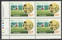 CANADA #1215 37¢ 4-H Clubs LL Inscription Block MNH
