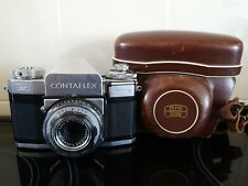 ZEISS CONTAFLEX WITH TESSAR 45mm F2.8 LENS AND CASE