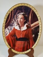 Gone With The Wind CAMEO MEMORIES Oval Plate GARNET GLAMOUR with COA Scarlett