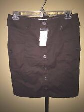 To The Max Brown Cargo Button Front Skirt 10