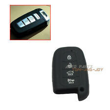 Black Silicone Key Shell Cover Remote Key FOB 4 Button For HYUNDAI SANTA Accent