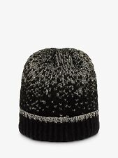 Phase Eight Leya Black & Lurex Knitted Rib Beanie Hat One Size Brand New RRP £39