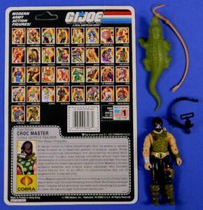 GI JOE COBRA CROC MASTER FIGURE 1987 WITH BACKER CARD NO HOSE