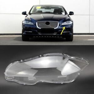 Left Side Headlight Clear Lens Cover + Glue Fit For Jaguar XJ 2010-2019