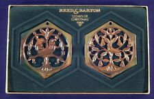 Reed & Barton 12 Days of Christmas Sets 1 & 2 Ornaments Days 1,2,3,4 1983 1984
