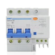 1pcs 60Amp 30mA 3Pole RCD/RCCB Residual Current Circuit Breaker CHINT DZ47LE-32