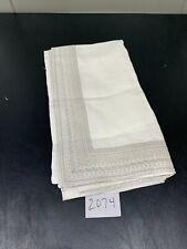 Restoration Hardware Milou Embroidered Linen Shower Curtain White / Dune 2074