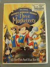 WALT DISNEY DVD THE THREE MUSKETEERS USED