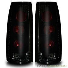 For 88-98 Chevy/GMC C/K 1500/2500/3500/99-00 Escalade Tail Lights Dark Smoke