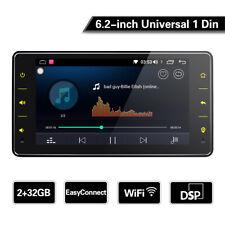 6.2 Inch 2GB RAM+32GB ROM Single 1 Din Universal Car Stereo GPS SAT NAV WiFi DSP