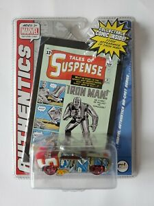 MGA Marvel Authentics Die-Cast Series IRON MAN #371199 w/ collectable comic NEW
