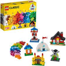 LEGO Classic Bausteine - bunte Häuser, Konstruktionsspielzeug