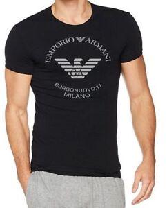 Emporio Armani Borgonuovo,11 Men's Black T-Shirt,Slim fit Size M*L*XL