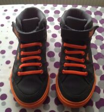 LONDSDALE boys grey/orange leather ankle shoes excellent cond. size 1 UK