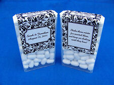 60 Personalized Floral Damask Glossy Wedding Tic Tac Mint Labels Stickers