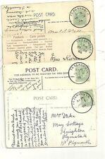 1906 x 4 SKELETON POSTMARKS OF TEIGNMOUTH ON PPCs MAY 28 to JUN 7th - DEVON