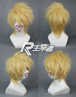 Short AMNESIA Toma Light Golden Blonde Anime Cosplay Costume Wig +Free CAP