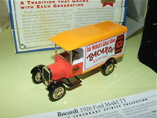 FORD MODEL TT 1926 BACARDI RHUM MATCHBOX YYM37789 publicitaire