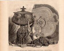 BIJOUTERIE ET ORFEVRERIE DEM LE COINTE EXPO UNIVERSELLE IMAGE 1855 OLD PRINT