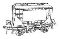Dapol C40. Presflo Cement Wagon - Plastic Kit (00) Railway Model