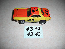AFX #43 Roadrunner Decals in white, black or silver Tyco Lifelike Autoworld