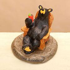Big Sky Carvers Bearfoots Bear 5 O'Clock Somewhere Figurine Black Bear