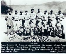 1945 Black American All Star Team 8X10 Photo Robinson Baseball Usa Hof
