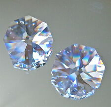 Swarovski Set of 2 Octagon Prisms Ornament Suncatchers, 28mm, logo Retired