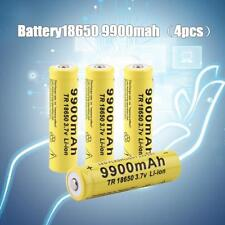 4x 9900mah 3.7V 18650 Li-ion Rechargeable Battery For LED Flashlight Torch Lampd