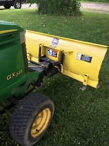 """John Deere GX345 48"""" PLOW & Lift Kit  Snow Plow Fits 325 335 345 And Others?"""