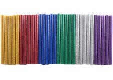 Mini 7mm Glitter Hot Glue Gun Sticks Melt Art Assorted Colours Pack of 30