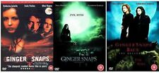 GINGER SNAPS Trilogy 1-3 Complete Movie Collection Part 1 2 3 BACK UNLEASHED DVD