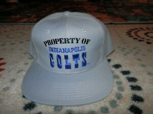 Property of Indianapolis Colts hat cap NEW VTG Property of Colts Snapback