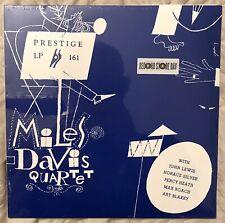 MILES DAVIS QUARTET Prestige LP 161 Dark Clear Blue Vinyl RSD 2011 Limited 1,800