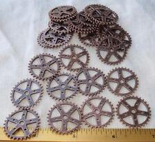 "Ten 1"" Antiqued COPPER Gears 10 Pieces Lot New Steampunk Watch Parts Clock Wheel"