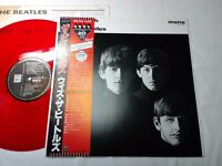 WITH THE BEATLES JAPAN ORIGINAL 1986 UK CUTTING MONO RED COLOR WAX W/RED OBI
