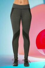 Athletic Workout Pockets Fitness Active Yoga Leggings Black Grey Pants Small S
