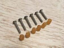 Fender Stratocaster USA MEX Single Coil Pickup Screws 6 Chrome Screws /& Spacers