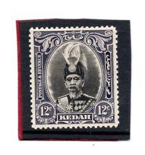 Malaya, Kedah 1937 12c black & violet sg 61 H.Mint