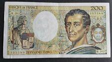FRANCE - FRANCIA - FRENCH NOTE - BILLET DE 200 FRANCS MONTESQUIEU 1994 SUP.