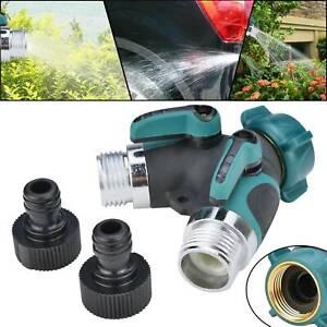 Premium 2 Wege-Verteiler für Wasserhähne Garten Absperrbar Wasserverteiler
